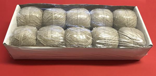 Garn 3/3, 5 WI 200 gr. natur, Karton 2 kg
